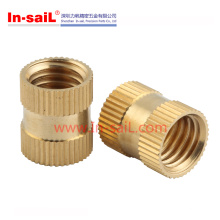 China Fastener Manufacturer Mould-in Straight Knurling RoHS Brass Insert Nut