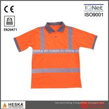 Safety Knitted Eyesbird Reflective Polo Shirt