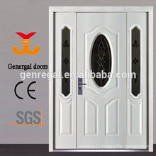 Glass insert steel entry door with side lite