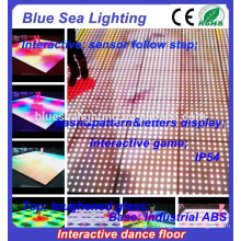 Led interactive disco glass folding illuminated dance floor