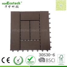 Quadratische Dimension 300 * 300 Holz Composite Board Rpl Terrasse Fliesen für Restaurant Balkone
