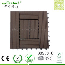 Square Dimension 300*300 Wood Composite Board Rpl Patio Tiles for Restaurant Balconies