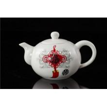 Pot de thé en porcelaine à noeuds chinois
