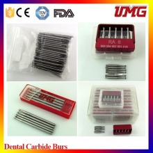 Burs dentais, Carbide Burs, Cortadores de Carburo, Medical Supply