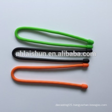 Hot Selling Silicone Rubber Cable Tie / Silicone Gear Tie with High Quality