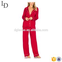precio de fábrica gruesa pijama de manga larga abierta pijama entrepierna adulto