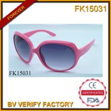Gafas de sol con marco rosa perforación y verdadero (FK15031)