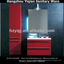 Mobilier de salle de bain en MDF moderne et à haut brillant