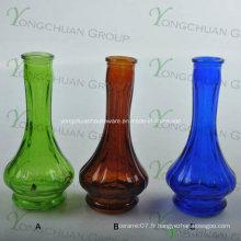 Vases en verre fabriqués en machine Grossistes Vase en verre clair incliné