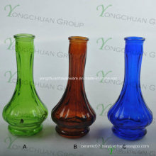 Machine Made Glass Vase Wholesalers Slanted Clear Glass Vase
