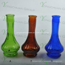 Vaso de vidro feito à máquina grossistas Vaso de vidro inclinado claro