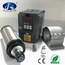 220V / 380V 2.2KW Spindelmotor-Kit, Inverter + Luftkühlung + Halter