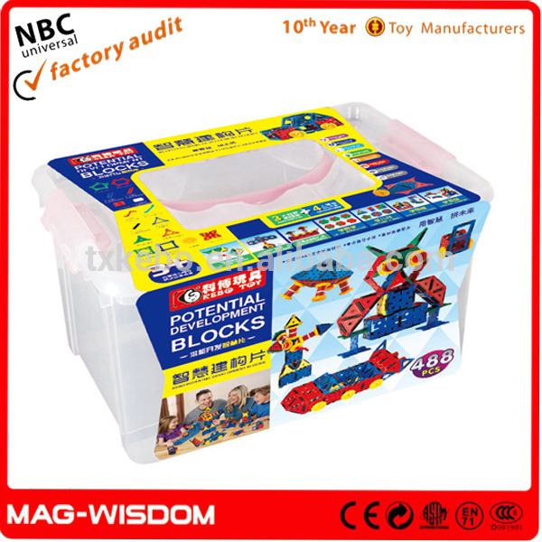 2016 Mag-Wisdom Magic Potential Development Building Blocks for Toys 488pcs Set