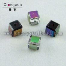 wholesale plated crystal cube Plated Bead