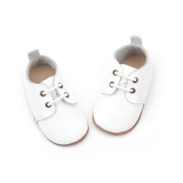 Wholesales Genuine Leather Simple White Shoes Baby