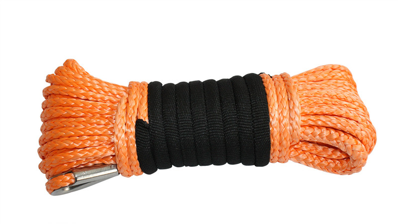 Orange UHMWPE Winch Rope 800px