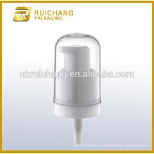 Bomba de loción de plástico / bomba de loción crema de 18 mm / dispensador de bomba de loción con sobrecapa AS