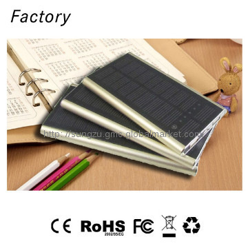 Micro usb dual outlet solar charger for cell phones 8000mah