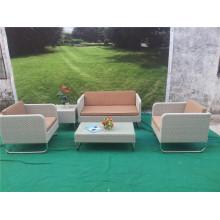 Ensemble de meubles de sofa de rotin de jardin