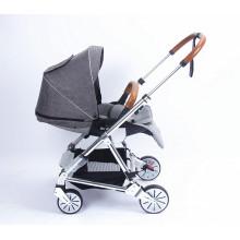 Chariot de chariot de landau de bébé en gros de la Chine de bonne qualité avec le siège réversible de coton