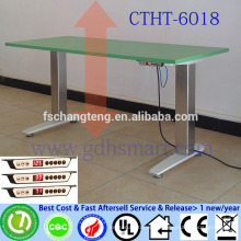 Dual luminum alloy legs adjustable height desks with electric motor Electronic standing table