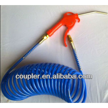 Red Plastic Air Gun with PU coiled pipe hose