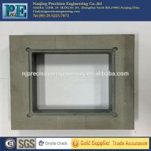 Kundenspezifische CNC-Bearbeitung ABS-Teile, CNC-Fräsen ABS-Quadratplatten