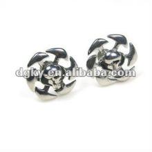 Boucles d'oreilles en forme de perle en acier inoxydable