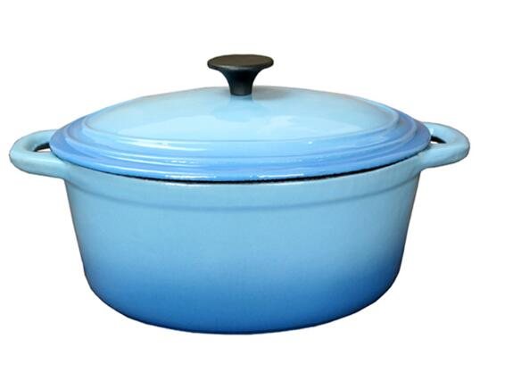 round oval enamel cast iron casserole cooking pot