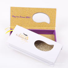 Faux / bande de vison de marque privée 3D cils avec l'emballage fait sur commande de cil