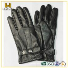 China factory Custom snap-fastener men winter nappa leather men's gloves