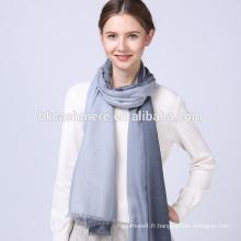 2017 dernières filles de mode hiver gris et gris clair rampe pattren écharpe en laine tricotée