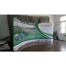 10Ft Aluminum Stand Curved Tension Fabric Displays