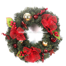 Navidad deco malla de corona de destino guirnalda de Navidad con renos