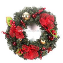 Grinalda de Natal de grão de malha de deco de Natal com rena