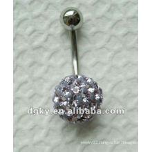 Stainless steel body piercing jewelry,Fancy diamond belly ring