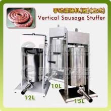 Llenador / relleno de salchicha vertical manual