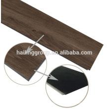 Tablón de suelo de vinilo con clic sistema pvc haga clic en tablones de suelo