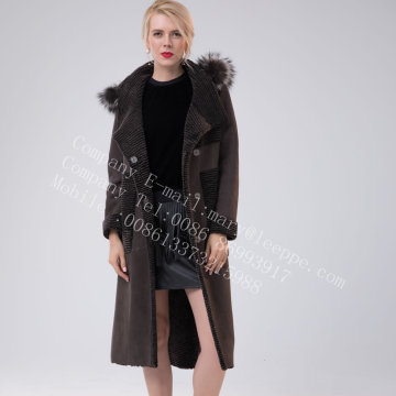 Lady Hooded Australia Merino Shearling piel