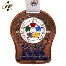 Médaille de bronze de conception personnalisée de judo de haute qualité OEM