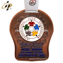 OEM high quality Judo custom design bronze award medal