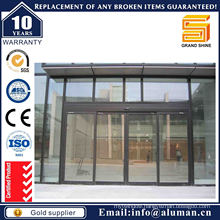 Aluminum Bronze Frame Sliding Door with Reflective Glass