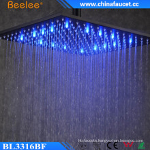 Luxury Shower Water Saving Blacken Painted LED Light Head Shower
