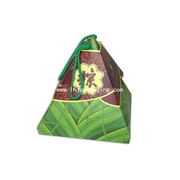 Caja de papel de triángulo Forma de cono de lujo Embalaje Caja de chocolate