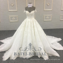 Dernière conception Bling Bling robe de mariée robe de bal hors épaule conception robe de mariée 2018