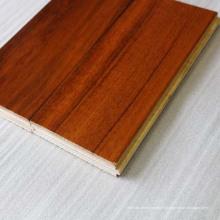 Revêtement d'ingénierie en teck à large largeur (revêtement de sol en teck)