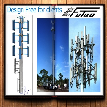 35M 36M Monopole Tower With Wireless Equipment