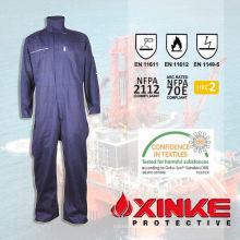 Combinaison de protection bleue contre les arcs électriques pour les travailleurs industriels