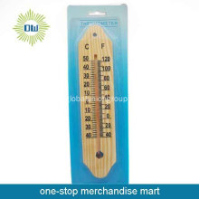 Haus innen Wand aus Holz thermometer