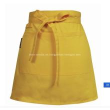 Promocional Ladies algodón corto cintura Delantal